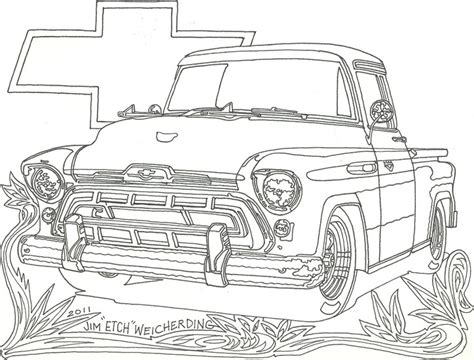Chevy Trucks Coloring Page | free coloring pages of lifted chevy trucks