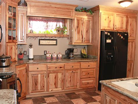 Kitchen Cabinets Rustic Hickory Kitchen Cabinets Natural Characteristic Materials