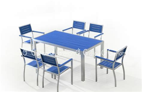 Composite Wood Furniture by Wood Plastic Composite Outdoor Furniture Blue Dining Table