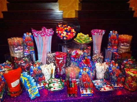 Candy Bar With Lots Of Flashing And Glowing Candy We Did Neon Buffet