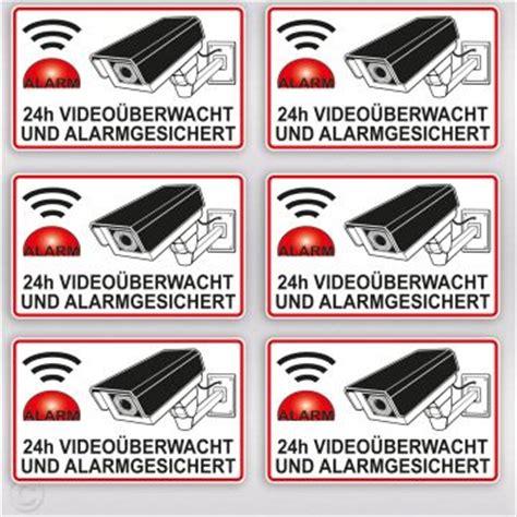 Aufkleber Auto Kamera by Video 252 Berwachung Aufkleber Alarmgesichert Mit Kamera Und