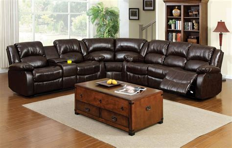 rustic brown leather sectional winslow rustic brown bonded leather match reclining