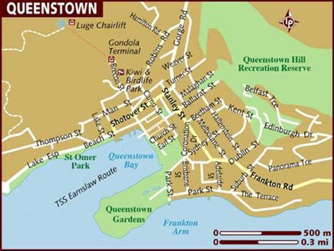 printable map queenstown political map of queenstown new zealand political map of