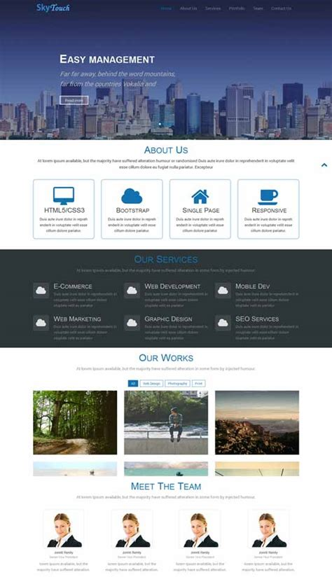 Responsive One Page Template Free 70 best one page website templates free premium