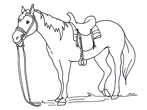 easy coloring pages of horses horse color pages for preschoolers 2017 loving printable