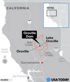 dam inundation maps california 140 000 calif residents ordered to evacuate below