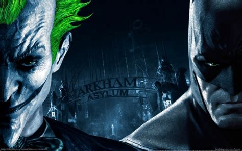 wallpaper batman vs batman arkham asylum images the joker vs batman hd