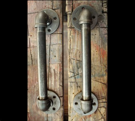 Door Pulls 2 Industrial Door Handles Black Pipe Door Pulls Industrial