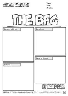the bfg worksheets the bfg vocabulary worksheet