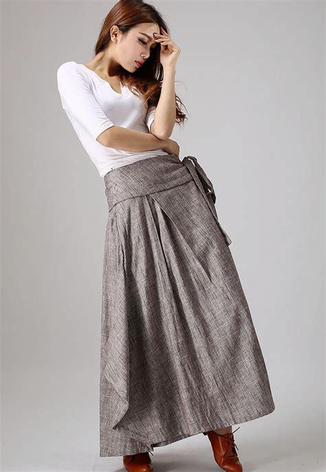 wrap skirt boho skirt linen skirt maxi skirt womens