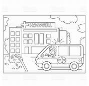 P&225gina Para Colorear Con Contorno De Ambulancia Coche