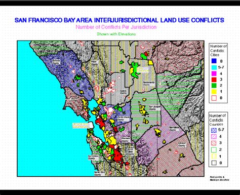 california land use map interjurisdictional land use conflicts in california