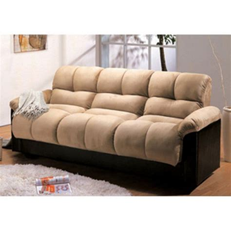 Mini Futon Sofa Bed by Bento Beige Faux Leather Mini Futon Sofa Bed Thesofa