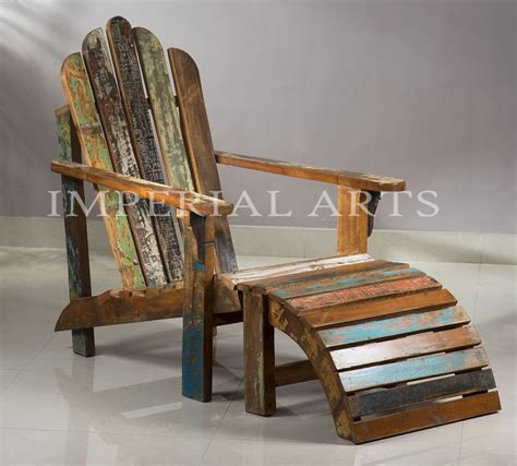 Reclaimed Wood Adirondack Chairs Indian Recycled Wood Adirondack Chair Knock For