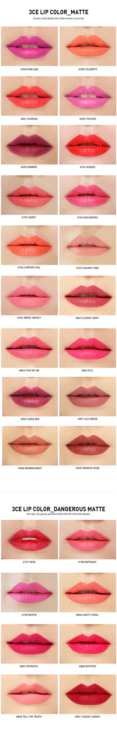 3ce matte lip color kbeauty original