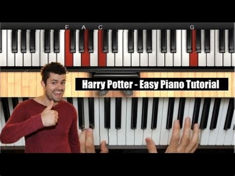 tutorial piano harry potter harry potter easy piano tutorial hedwigs theme