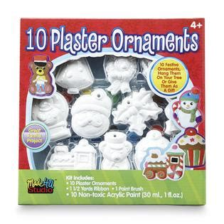 22 piece plaster christmas ornaments paint kit