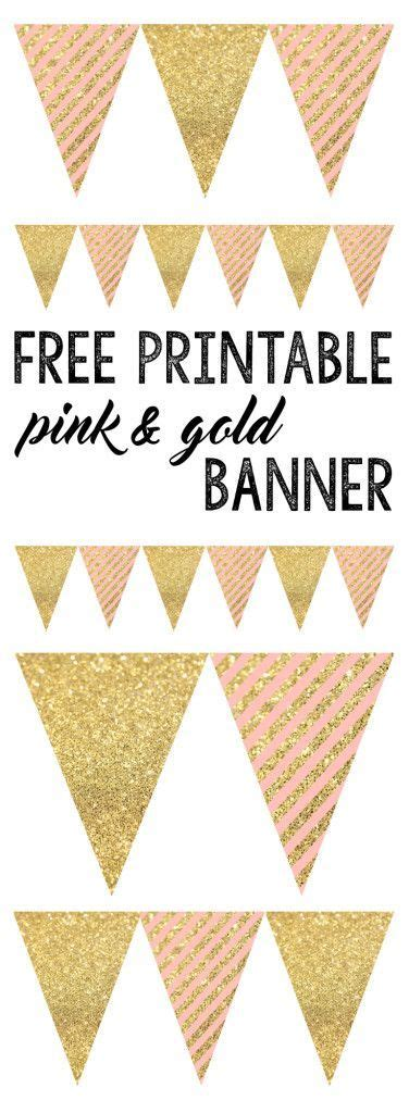 free bridal shower banner template free printable banners and pink and gold on