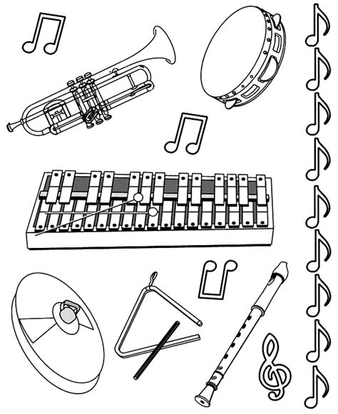musical instrument coloring book pages music instrument coloring page getcoloringpages com