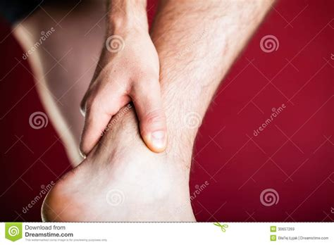 sore legs and after standing running physical injury leg royalty free stock