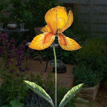 Solar Garden Flowers Solar Iris Flower Garden Stake Light