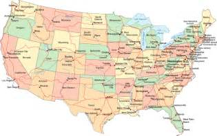 Map Of Usa With Cities by Usa Map With States And Cities Pictures Map Of Manhattan