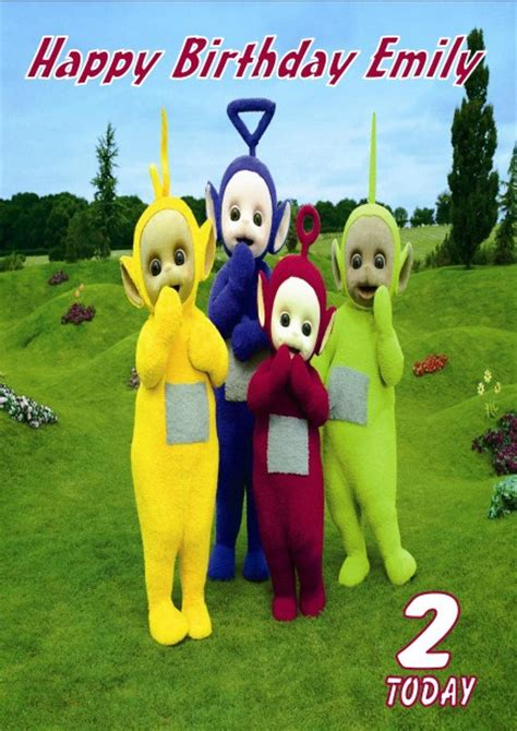 teletubbies cards personalised teletubbies birthday card