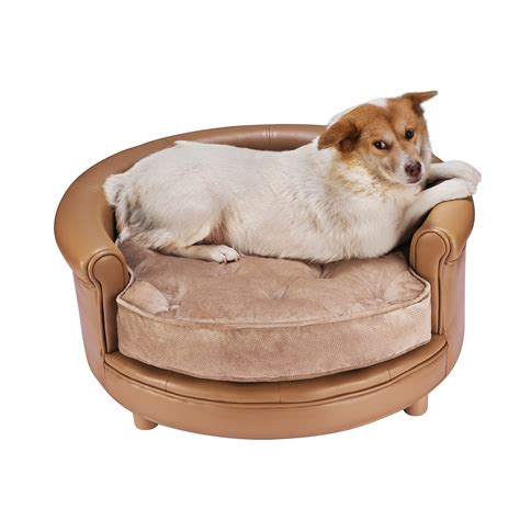 large pet bed chesterfield faux leather large dog bed designer pet sofa