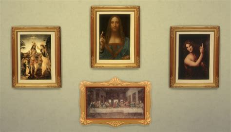 Best Website For Home Decor mod the sims leonardo da vinci 4 paintings by ironleo78