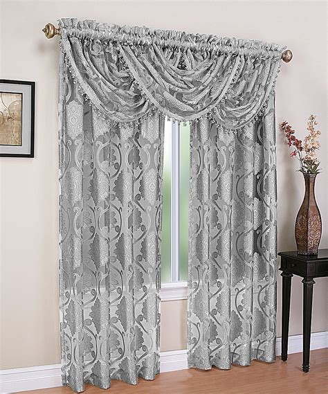 curtain and sheer set goodgram gray mirabelle sheer voile curtain panel