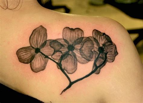 dogwood tattoo black and white flower dogwood lotus