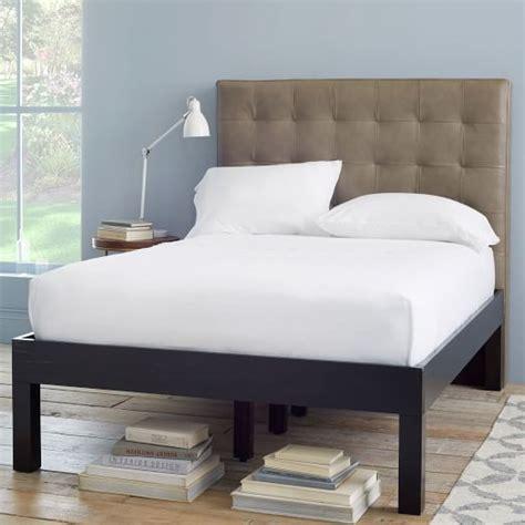 modern bed frames modern bed frame west elm
