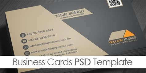 visiting card psd template free real estate business card template psd freebies graphic design junction
