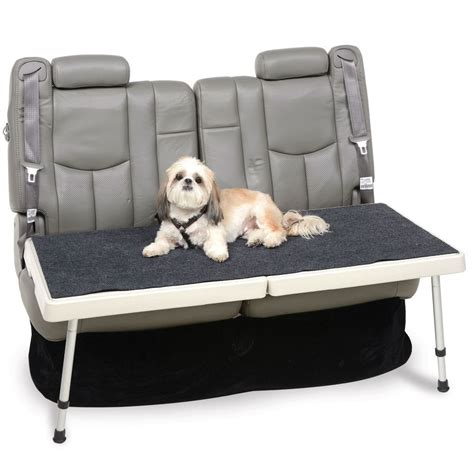 back seat pet bed the backseat safety deck hammacher schlemmer