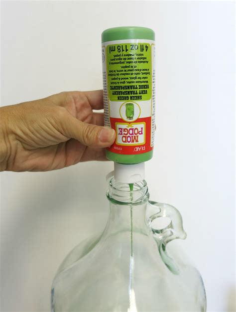 Recycled Home Decor How To Tint Glass With Mod Podge Crafts Unleashed