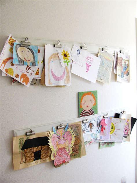 hanging kids artwork kids wall art mysuperfoods
