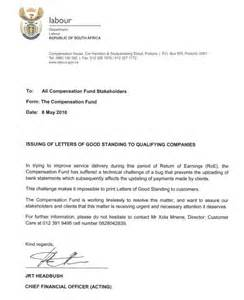 letter of standing template coida notice letter of standing saiosh