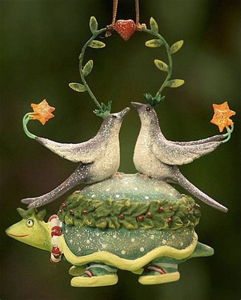 two turtle doves ornament christmas pinterest