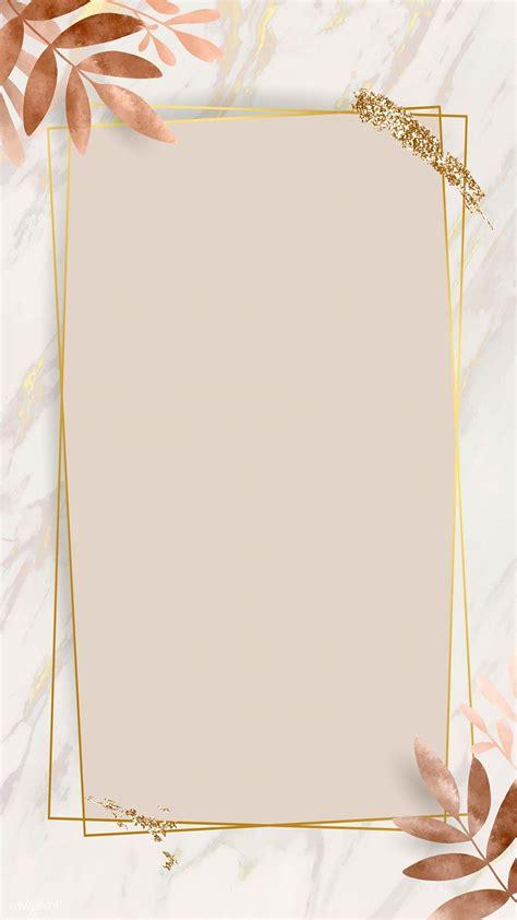 premium illustration  leafy golden rectangle