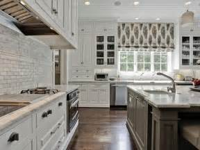 gray center island transitional kitchen