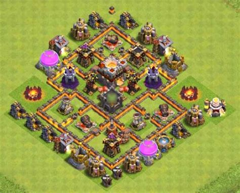 layout coc war base th6 war base th6 anti dragon www imgarcade com online