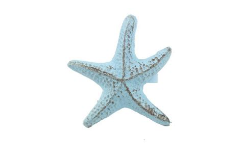 Starfish Home Decor by Rustic Light Blue Cast Iron Starfish Napkin Ring 3 Quot Set Of 2