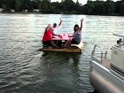 picnic table pontoon picnic table pontoon youtube