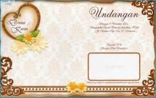 Contoh Undangan Kepada Kawan by Contoh Undangan Pernikahan Terbaru 2013 Cadas