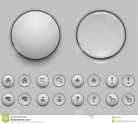 button templates free blank white push button template stock vector image