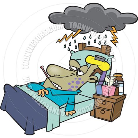 sick bed sick man in bed clipart clipartxtras