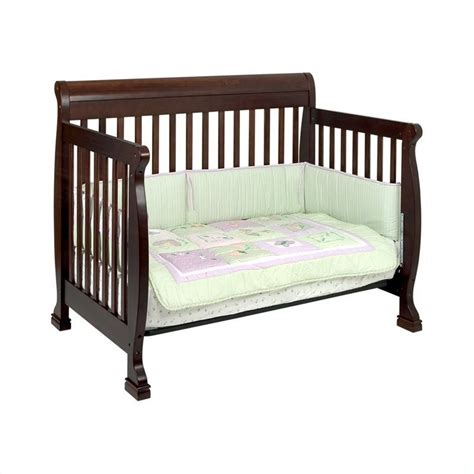 da vinci 4 in 1 convertible crib davinci kalani 4 in 1 convertible wood baby crib set w toddler rail in espresso m5501q m5555q pkg