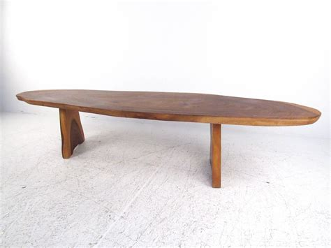 Tree Slab Coffee Table Rustic Free Edge Tree Slab Coffee Table For Sale At 1stdibs