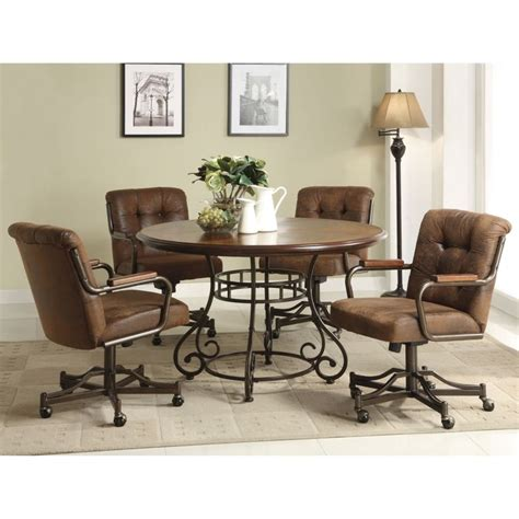 Leather Dining Room Chairs With Casters 1000 Ideas About Leather Dining Chairs On Pinterest White Leather Dining Chairs Leather