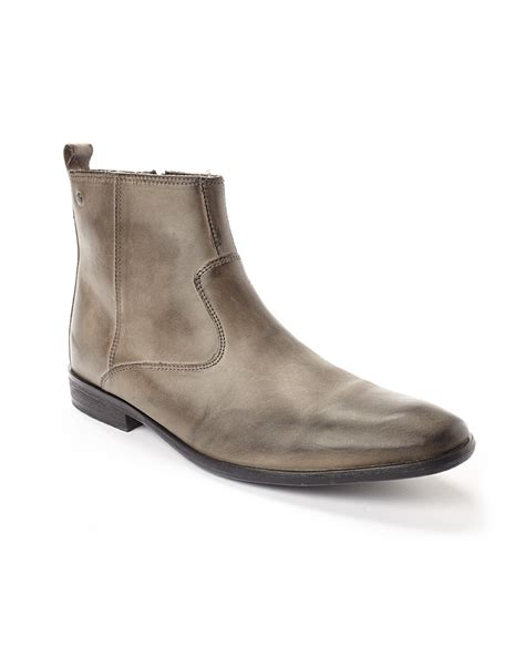 grey chelsea boots womens base basil chelsea boots in gray for grey lyst